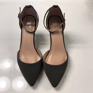 JG Gray kitten heels
